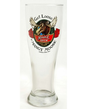 BEER PILSNER GET LOOSE AT MANGY MOOSE GLASS