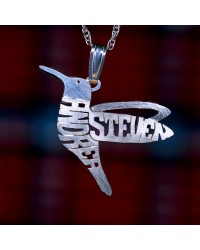 Sterling Silver WY Birds Pendant Charm Handcrafted - Customize Your Own