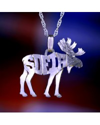 Sterling Silver WY Wildlife Pendant Charm Handcrafted - Customize Your Own