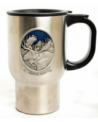 MUG TRAVEL MOOSE PEWTER