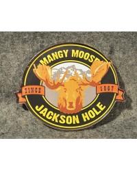 Mangy Moose Logo Jackson Hole Acrylic Die Cut Magnet