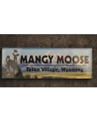 Mangy Moose Bronco TV WY Acrylic Magnet