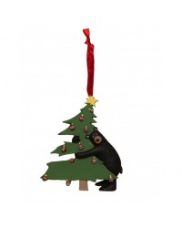 TREE BEAR HUG CHRISTMAS ORNAMENT