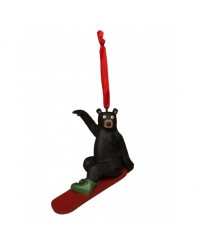 SNOWBOARD BEAR CHRISTMAS ORNAMENT