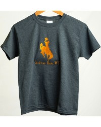 TEE SHORT SLEEVE BUCKING BRONC CHARCOAL