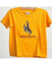 TEE SHORT SLEEVE BUCKING BRONC YELLOW