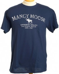 SHORT SLEEVE T-SHIRT SCRATCH MANGY MOOSE NAVY