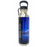 Water Bottle Named Peaks GTNP With Carabiner