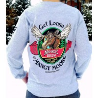 Long Sleeve T-Shirt Mangy Moose Brew GREY
