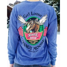 Long Sleeve T-shirt Mangy Moose Brew DENIM