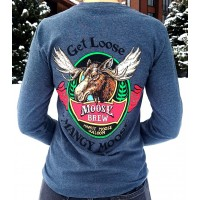 Long Sleeve T-Shirt Mangy Moose Brew CHARCOAL