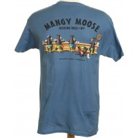Short Sleeve T-Shirt Beware: Bear Dropping Steel Blue