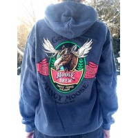 Sweatshirt Hooded Mangy Moose Brew CHARCOAL