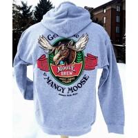 Sweatshirt Hooded Mangy Moose Brew GREY