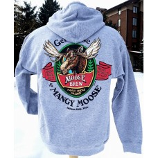 Sweatshirt Hooded Mangy Moose Brew GREY