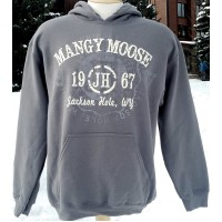 Sweatshirt Hooded Mangy Moose 1967 Charcoal
