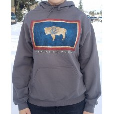 Sweatshirt Hooded WY Flag CHARCOAL