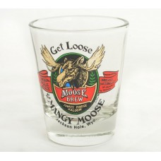 Shot Glass Mangy Moose Brew CLEAR