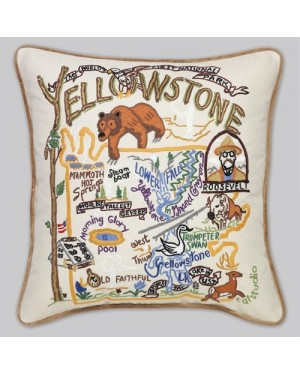 Yellowstone Embroidered Pillow