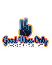 Sticker Good Vibes Only Jackson Hole WY