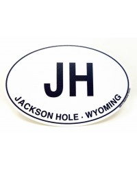 Sticker Jackson Hole Initial Euro Oval