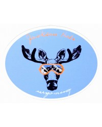 Sticker Moose Head With Goggles