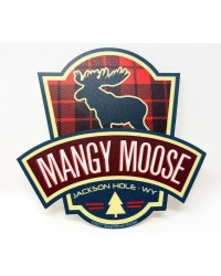 Sticker Buffalo Flannel Mangy Moose