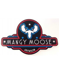 Sticker Mangy Moose Sign