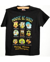 TEE SHORT SLEEVE MOOSE BE CRAZY BLACK