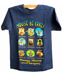 TEE SHORT SLEEVE MOOSE BE CRAZY NAVY