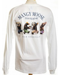 LONG SLEEVE T-SHIRT BEAR ESSENTIALS WHITE
