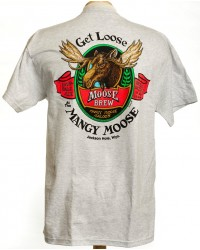 SHORT SLEEVE T-SHIRT GET LOOSE AT MANGY MOOSE ASH