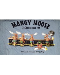Short Sleeve T-Shirt Beware: Moose Dropping NAVY
